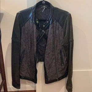 FREE PEOPLE leather jacket!